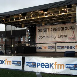 The Stage In Use At A Fireworks Display.
